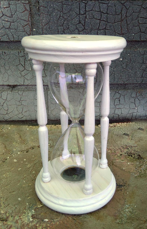 sablier blanc pour la c r monie du sable. Black Bedroom Furniture Sets. Home Design Ideas